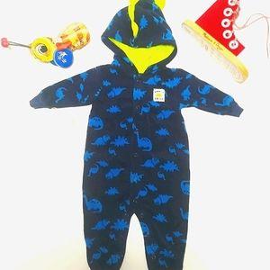 👉5/$30 Carter's Hooded Fleece Onesie Sz 6 months